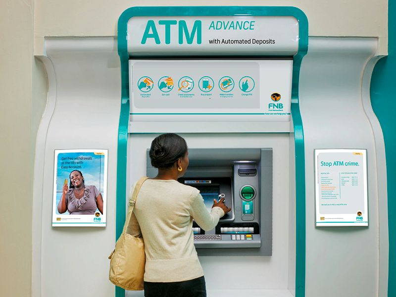 Ink&Feather FNB Smart account6 ATM